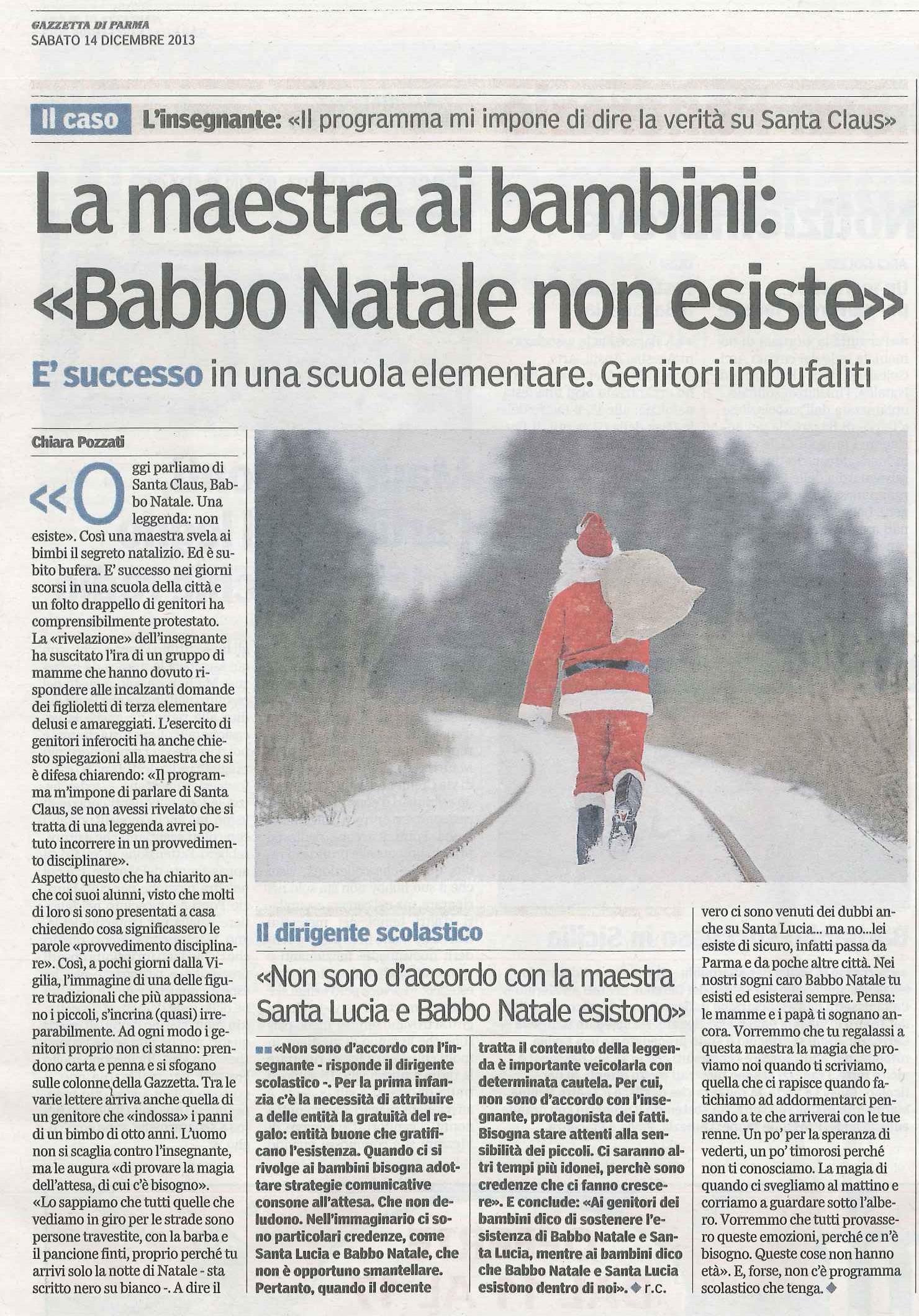 Esiste Babbo Natale Si O No.Istruzione Bene Comune Leggi Babbo Natale E La Maestra Solerte